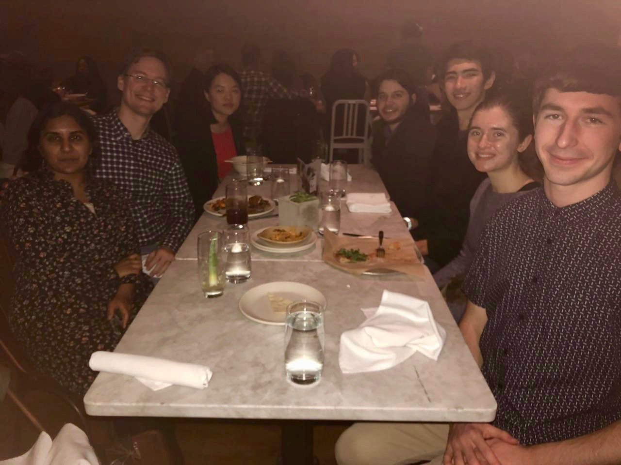 Sean Szeja (BS '03) hosted 5 undergraduate students for dinner at True Food Kitchen in Pasadena on Saturday, February 23, 2019.