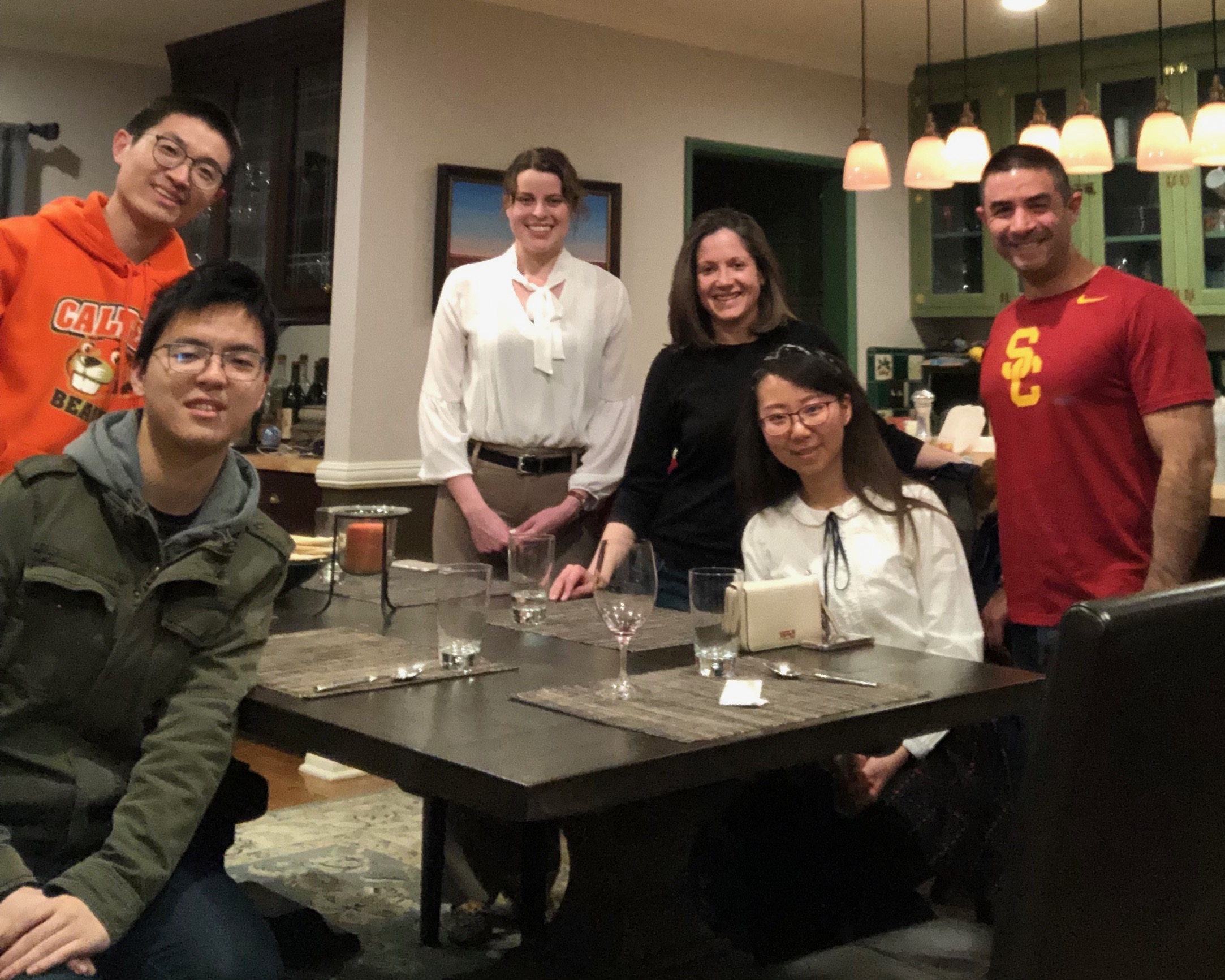 Deniz (MS '03, PhD '05) and Andrea Armani (MS '03, PhD '07) hosted 4 graduate students for dinner at their home in Pasadena on Saturday, February 23, 2019.