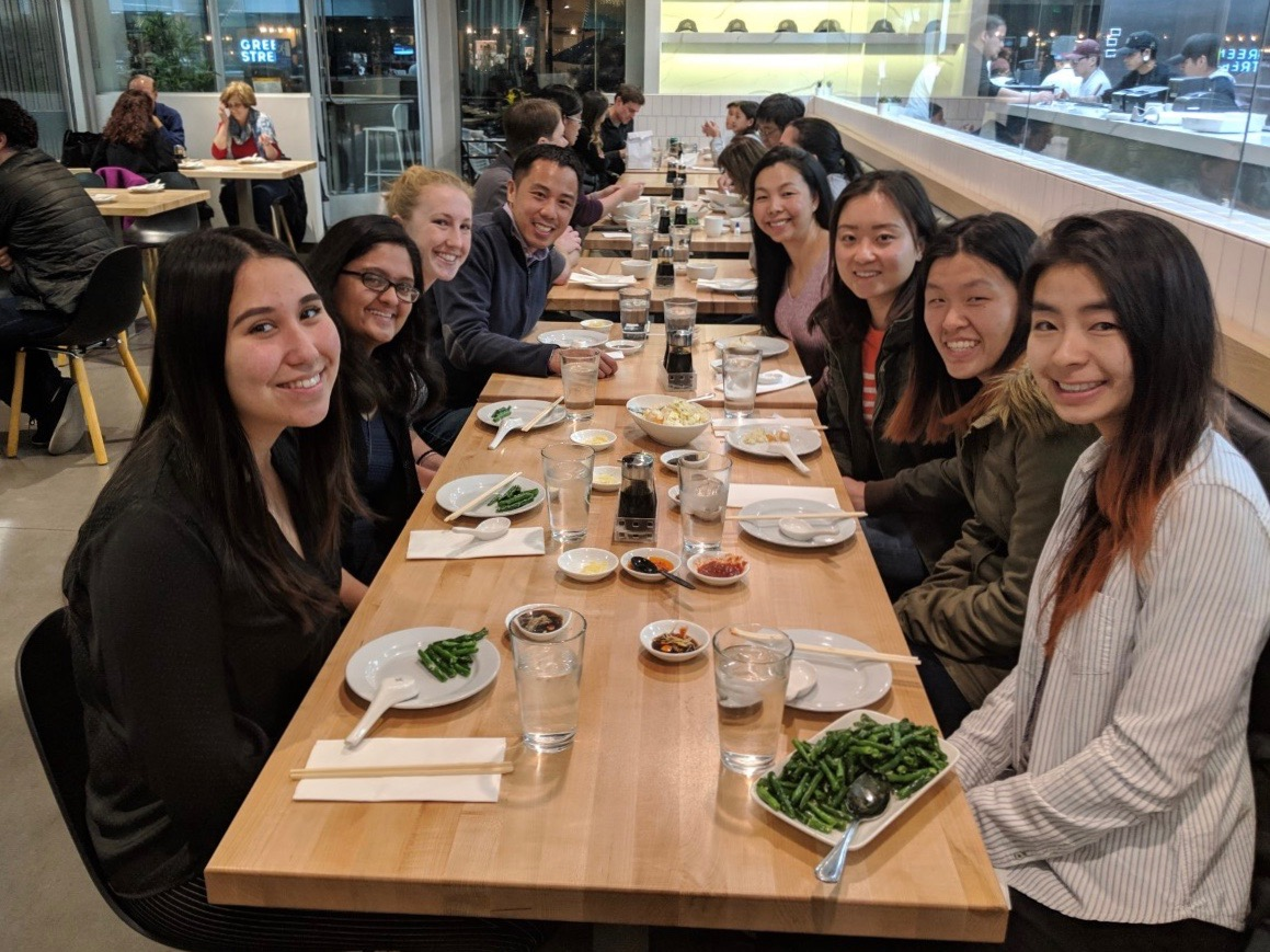 Ves Sok (BS '04) hosted 6 undergraduate students for dinner at Dan Modern Chinese in Pasadena on Saturday, February 23, 2019.
