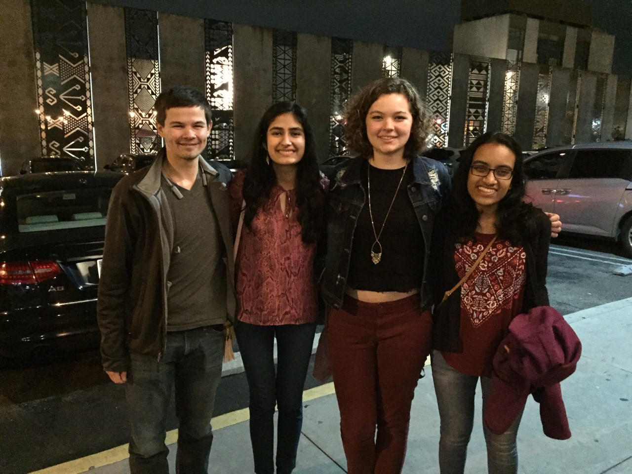 Valere Lambert (BS '14, MS '17) hosted 3 undergraduate students for dinner at Saladang Garden in Pasadena on Saturday, February 23, 2019.