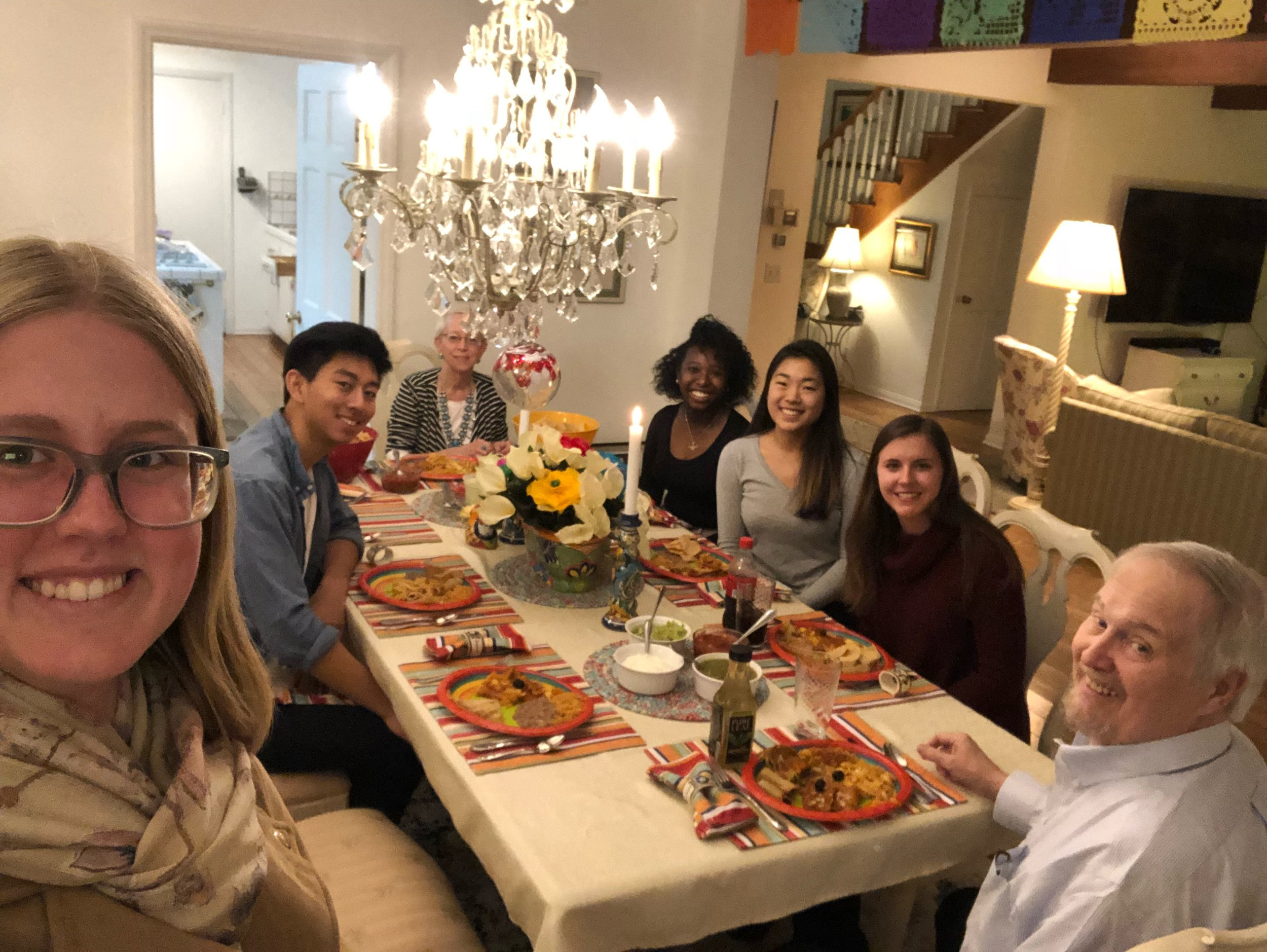 Bill (BS '68) and Deb Bloom hosted 5 undergraduate students for dinner at their home in Altadena on Saturday, February 23, 2019.