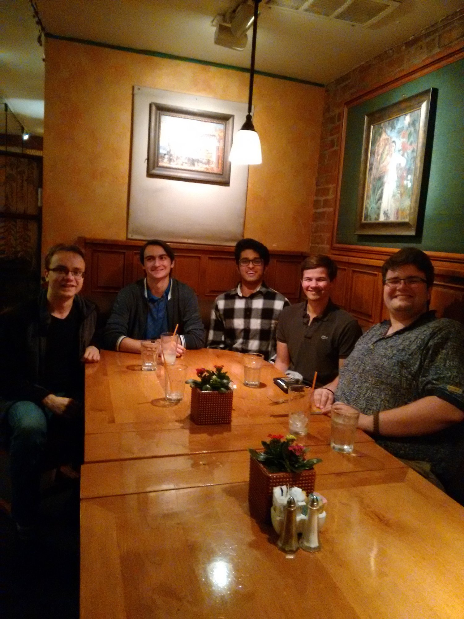 Valère Lambert (BS '14) hosted 4 undergraduate students for Dinner with Techers on Saturday, Feb. 10th.