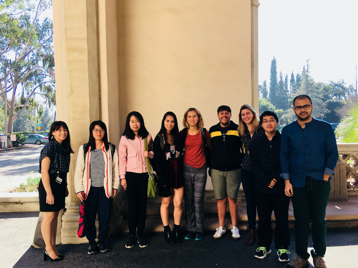 On January 11, Lori Dajose (BS '16) took current Caltech students out for lunch and conversation at the Ath!