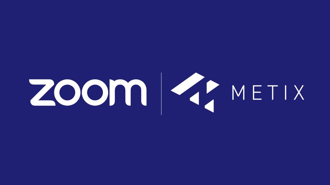 Zoom logo with Metix software logo