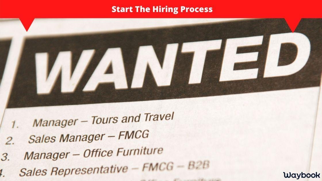 Start the hiring process