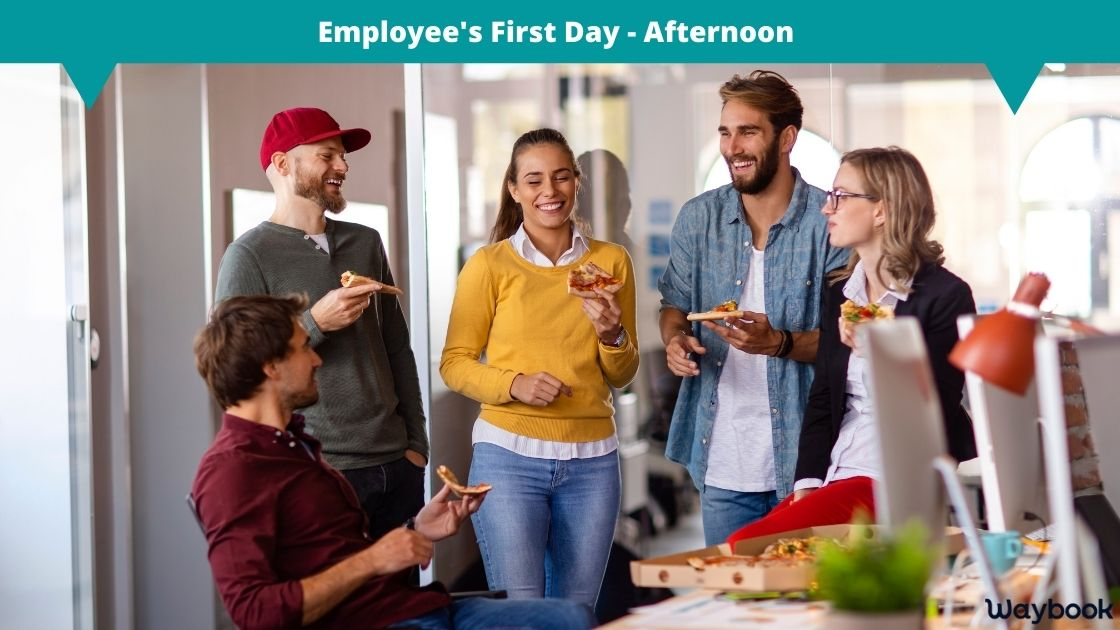 Employee first day afternoon