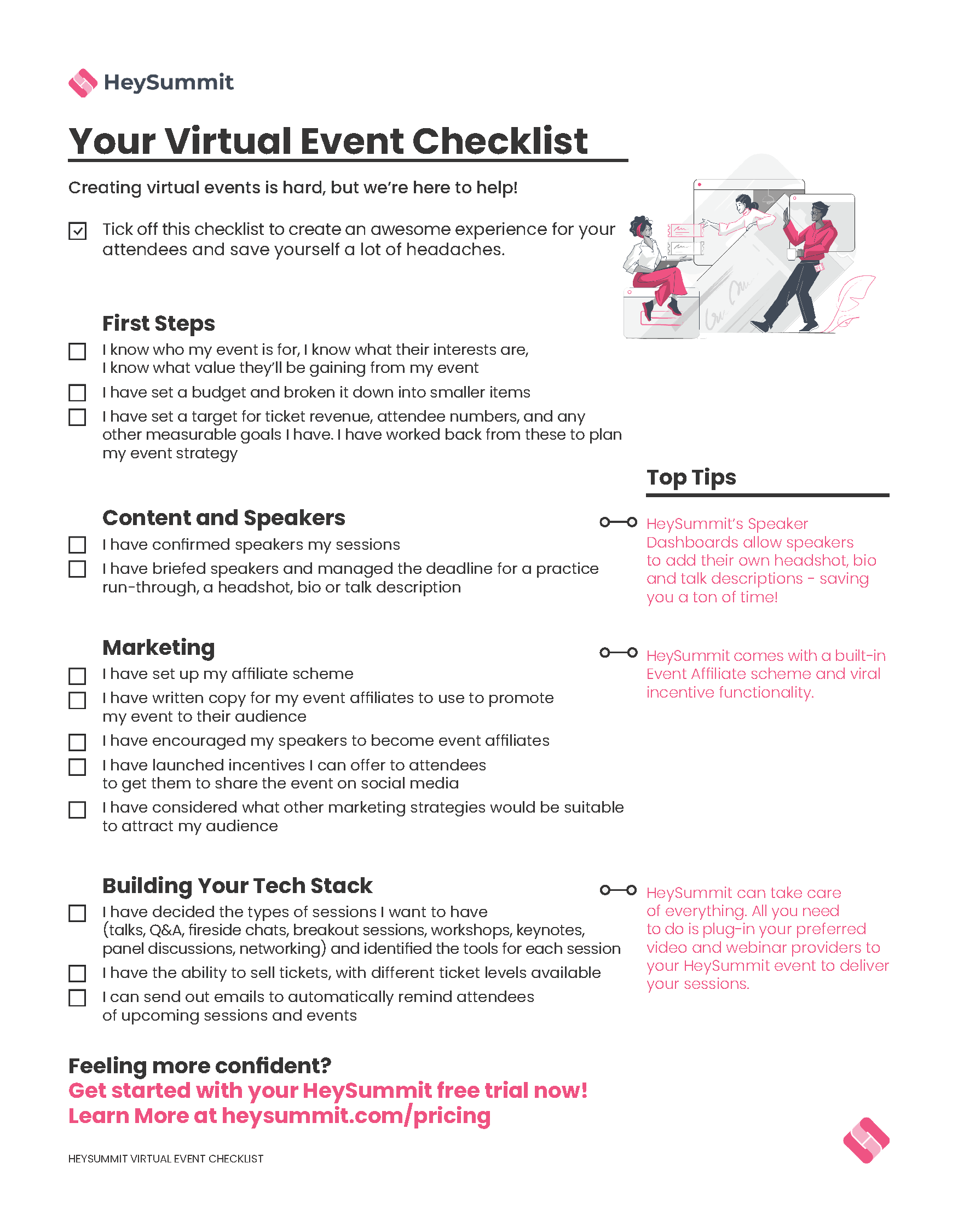 Image of the Virtual Event checklist