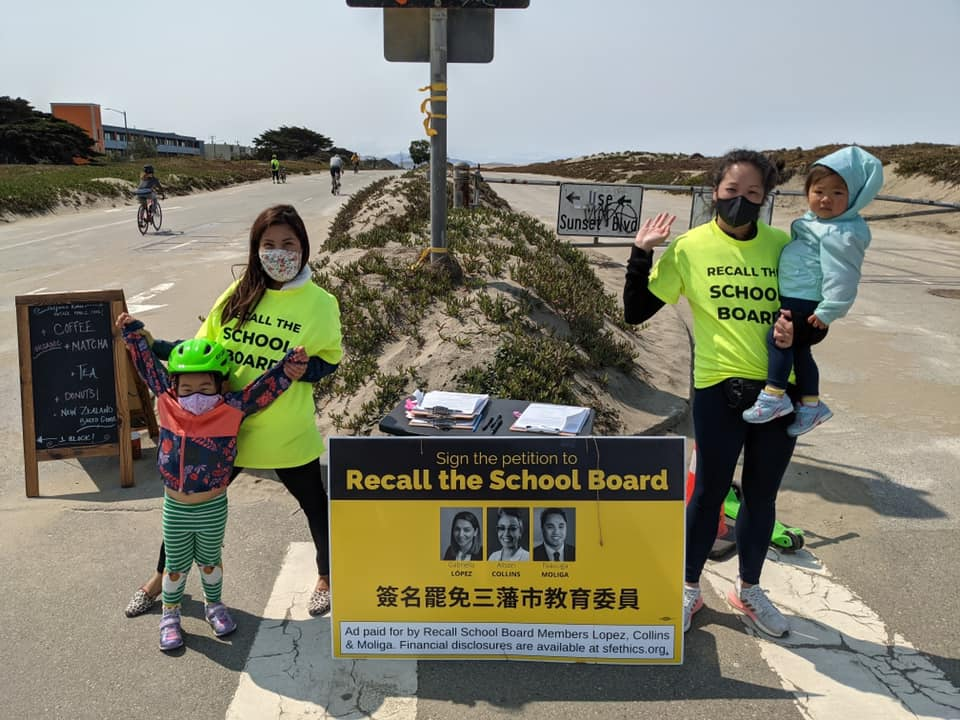 Collecting signatures on Great Highway