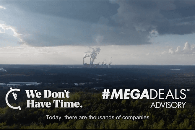 A thumbnail for the megadeals sustainability report teaser.
