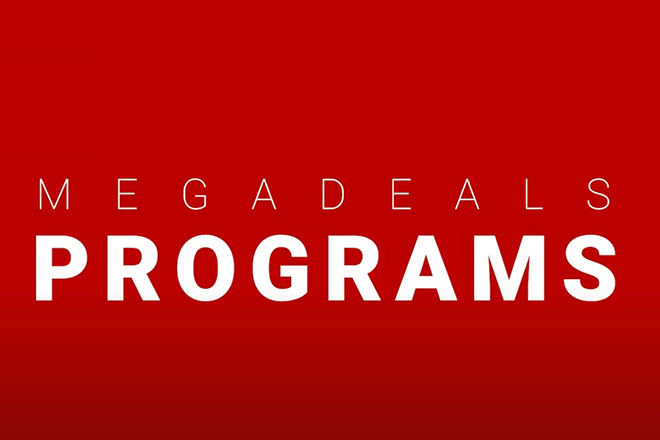"A thumbnail picture for the video ""Megadeals Program"""