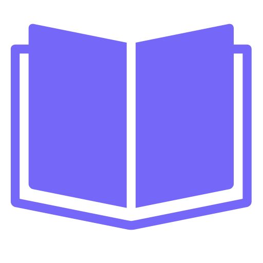 This is a little purple book icon