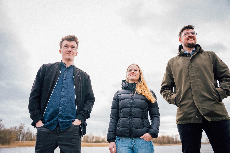 Die Freiparlamentarische Allianz setzt auf junge Gesichter: Luca Piwodda, Marie Rintsch, Fabian Hahn.