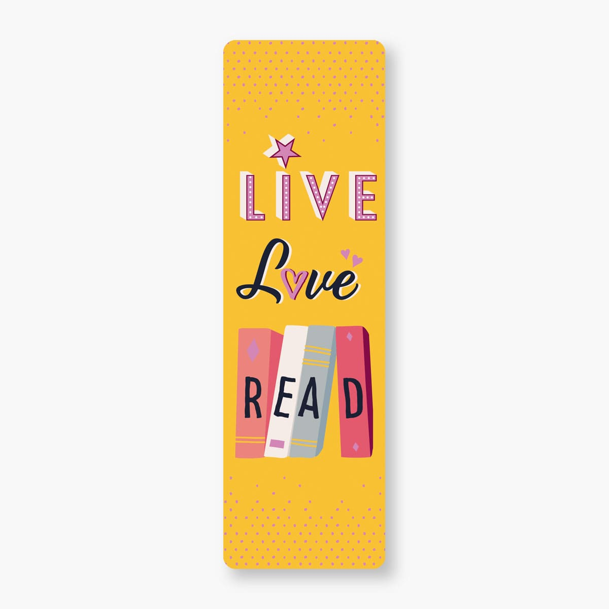 """Marcapáginas """"Live, love, read"""""""