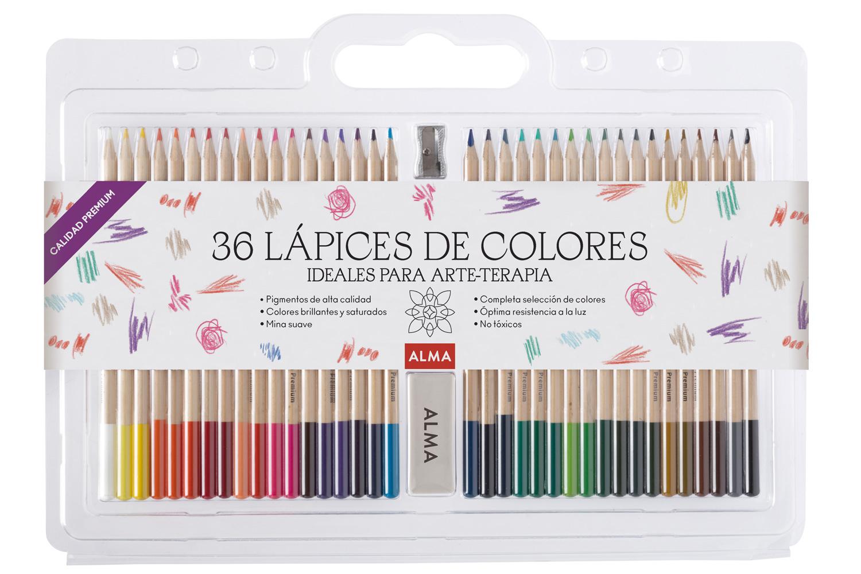 Set de 36 lápices para colorear
