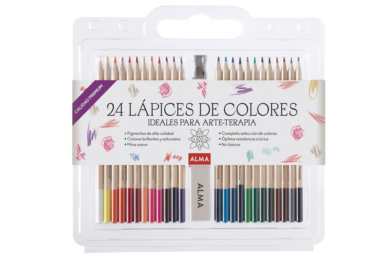 Set de 24 lápices para colorear