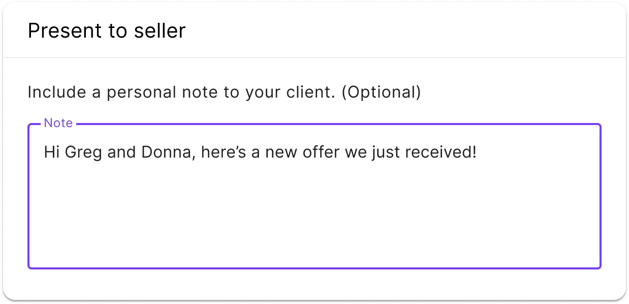 listing agent presenting the offer to the seller listing agent with a Jointly account reviewing the offer in the jointly offer management platform