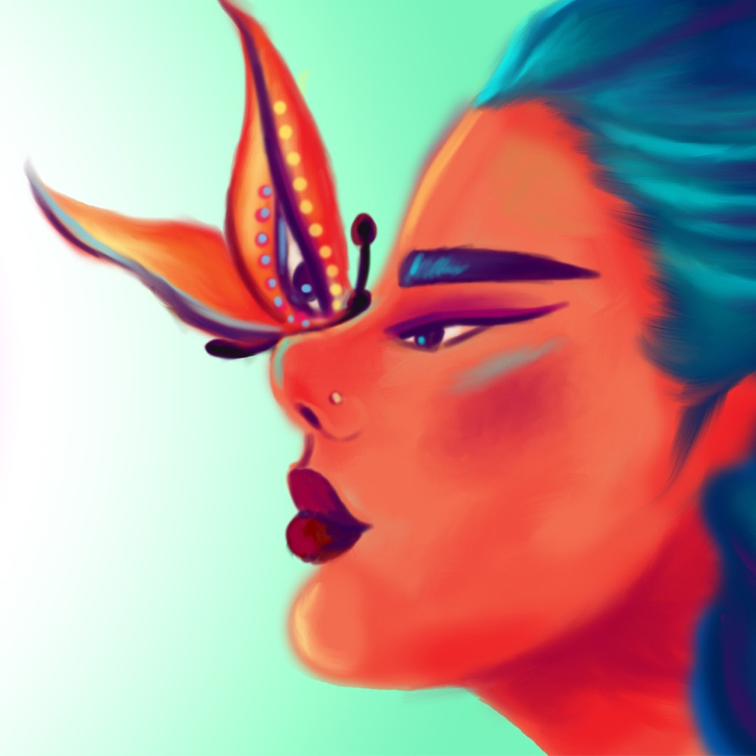 This artwork is a digital painting by Priyanka Uppal