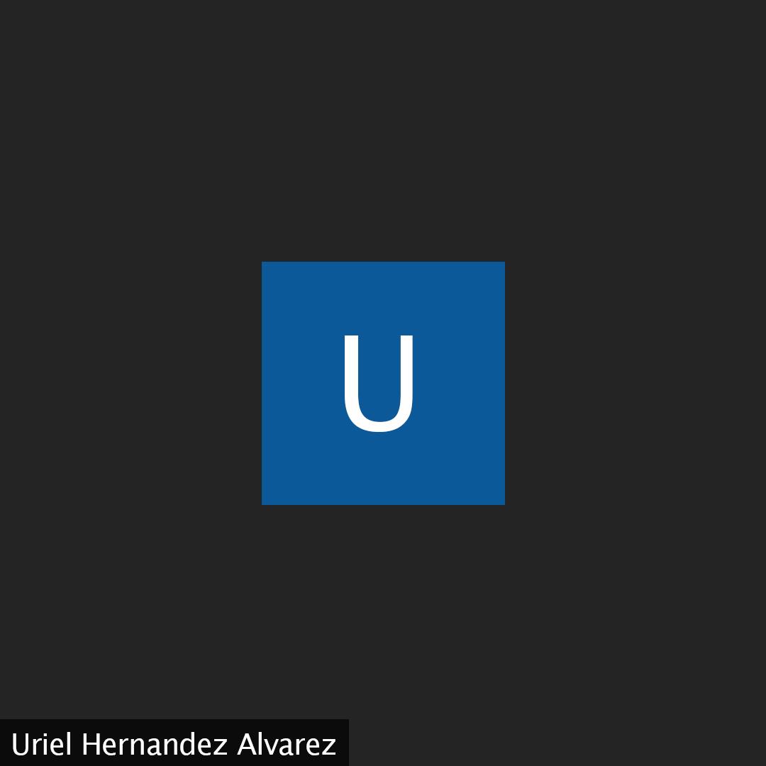 "A black background with the letter ""U"" in a blue square. ""Uriel Hernandez Alvarez"" is in the bottom left corner."