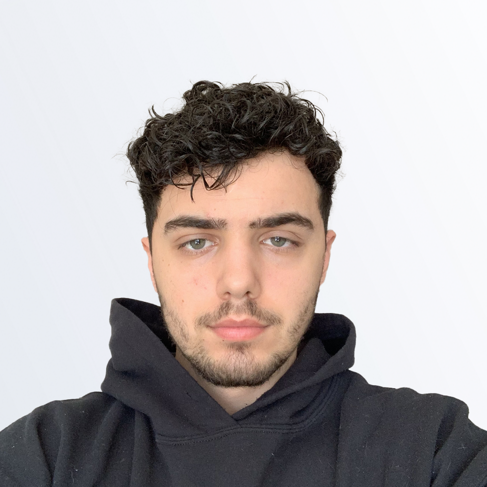 Picture of Nicholas, wearing a black hoodie
