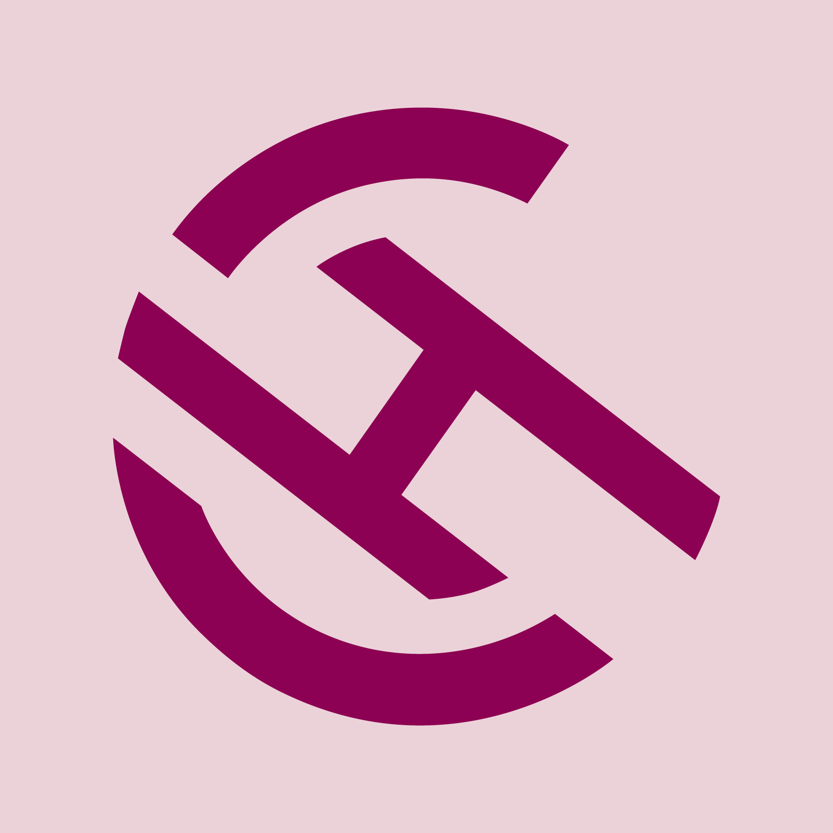 CandiceHabeychelogo. A burgundy C with a diagonal H inside.