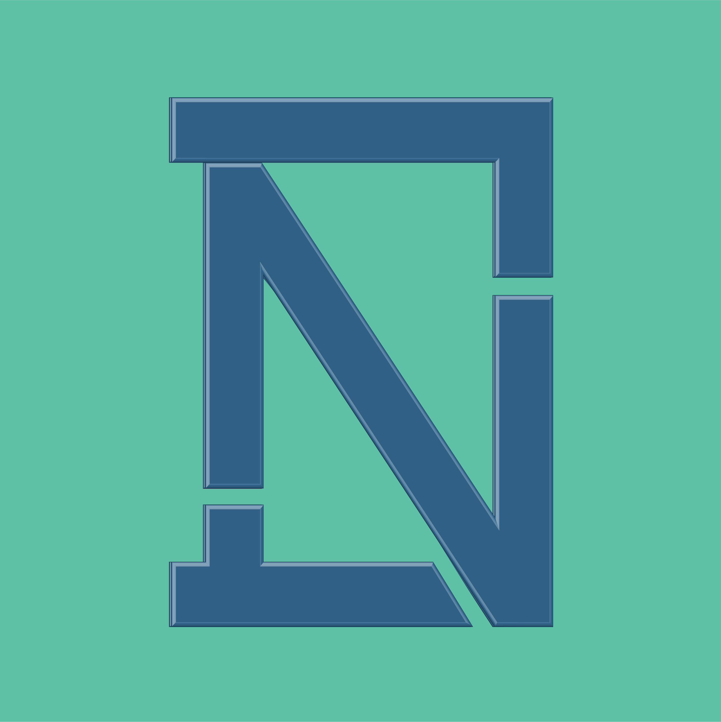 DrastiNawab logo. Blocky blue N and D letters on a teal background.