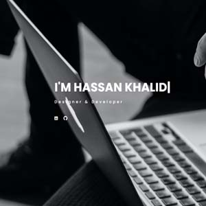 This is the screen shot of Hassan Khalid portfolio website.
