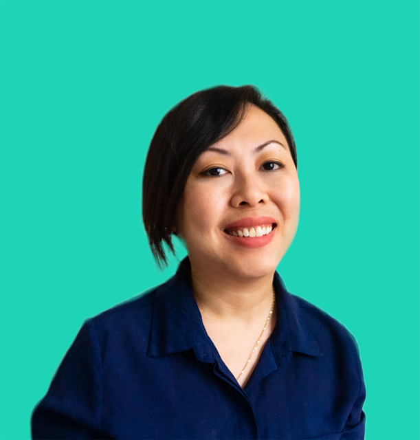 Picture of Hanna Le, wearing a navy blue shirt