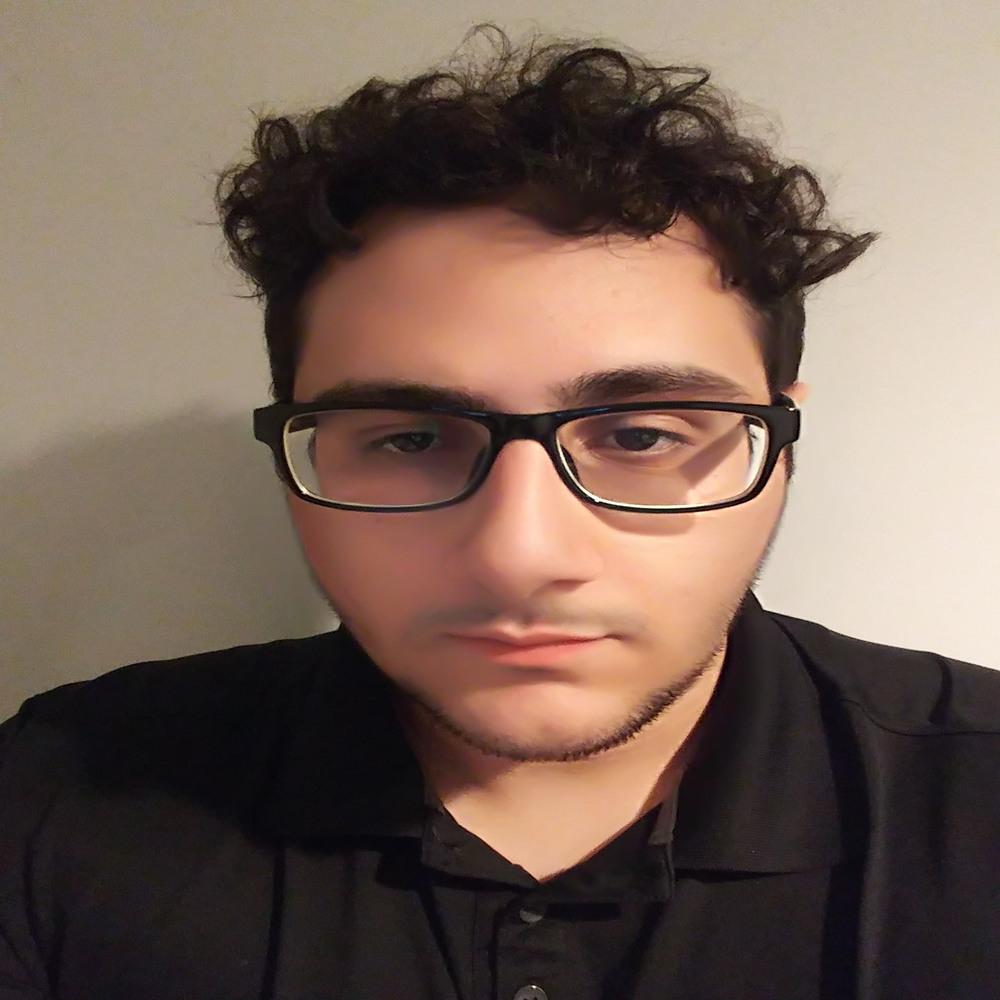 Picture of Jordan wearing a black shirt