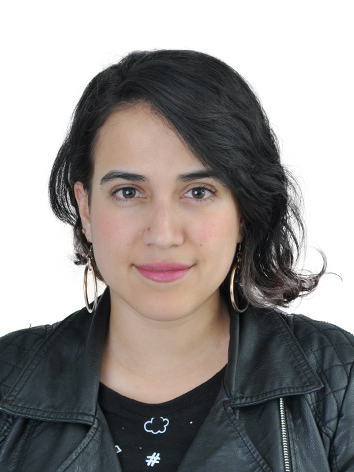 Picture of Tatiana Huertas wearing a black leather jacket