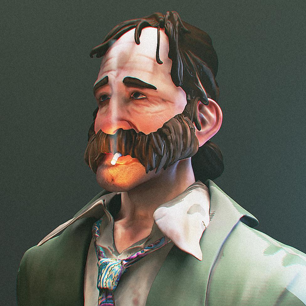 A 3D render of Eshaan's art project