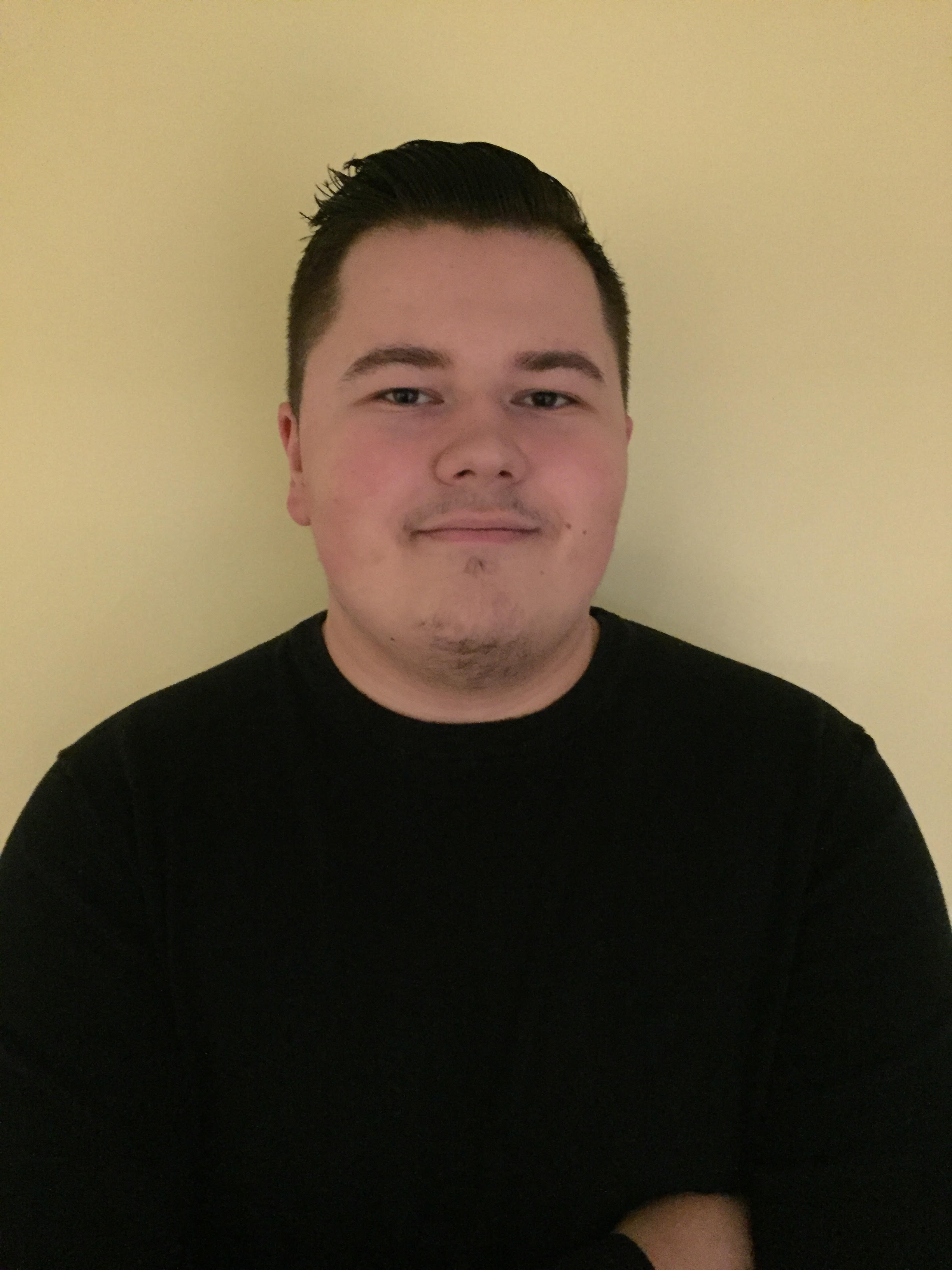 Picture of Lucas, wearing a black shirt.