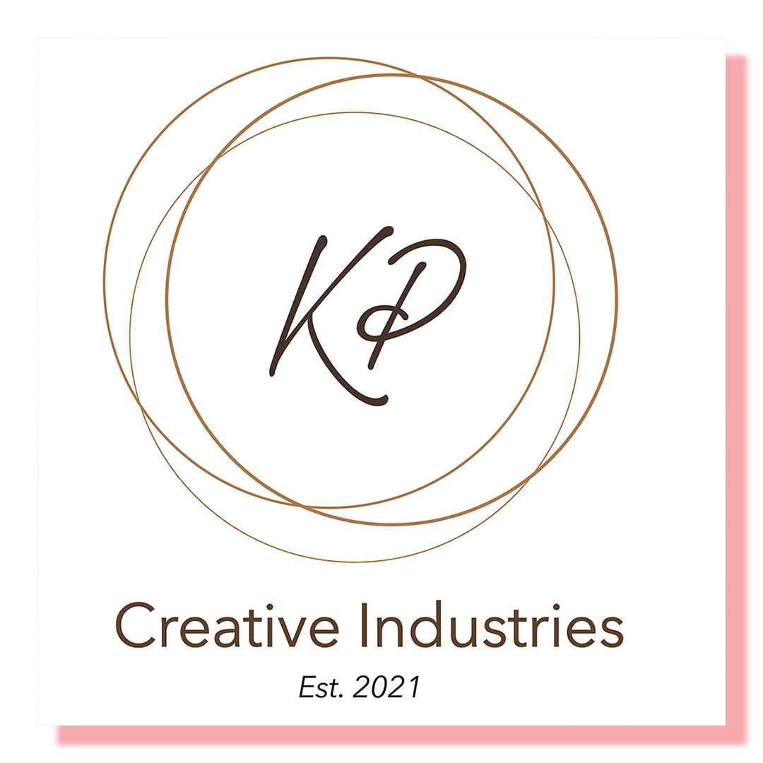 logo design with letters KP in a lossly drawn circle