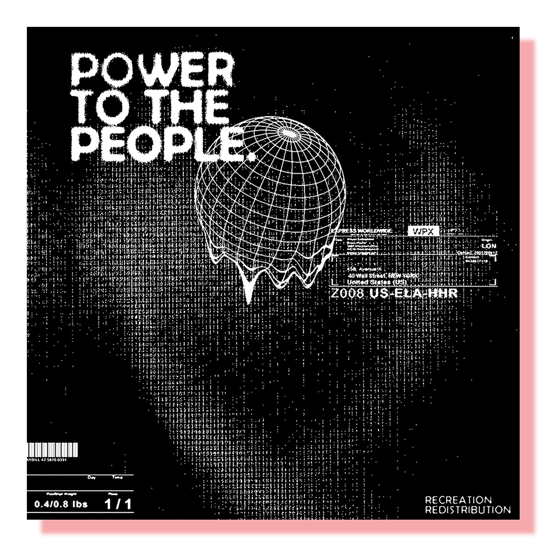 """Picture with text """"Power to the people"""""""