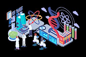 رسم توضيحي للطلاب والمهنيين في برنامج الطب البشري في جامعة بهتشه شهير - باتومي