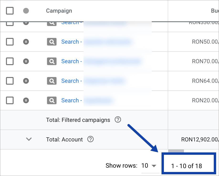 Promovare Google Ads Maximize 4-Campanii-vechi-active