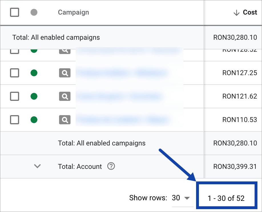 Promovare Google Ads Maximize 5-Campanii-noi-active