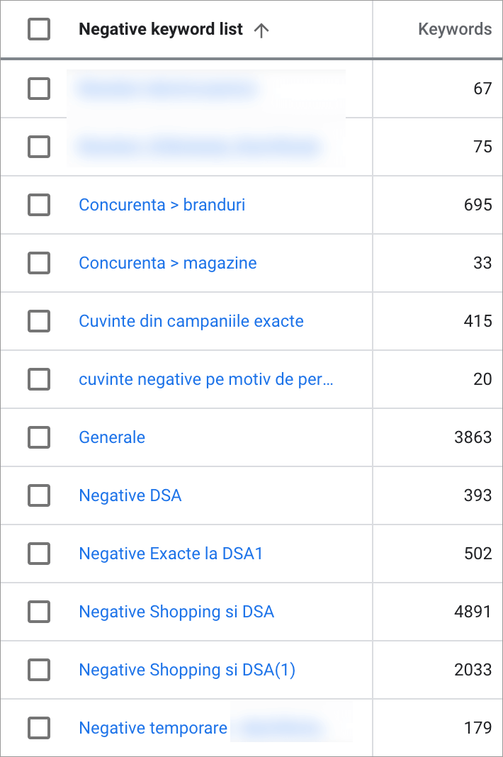Promovare Google Ads Maximize 9-Negative