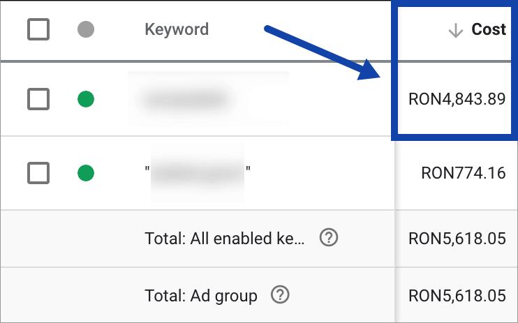 Promovare Google Ads Maximize 8-cuvinte-cheie-match-type