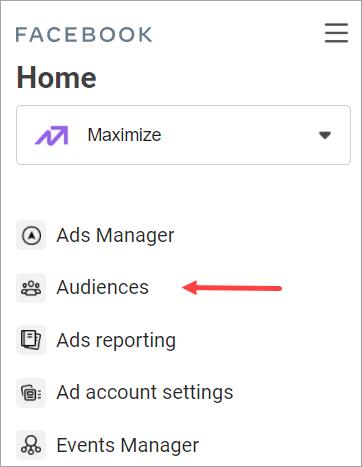 4 Crearea audiențelor din meniul de Audiențe din Business Manager Agentia Maximize