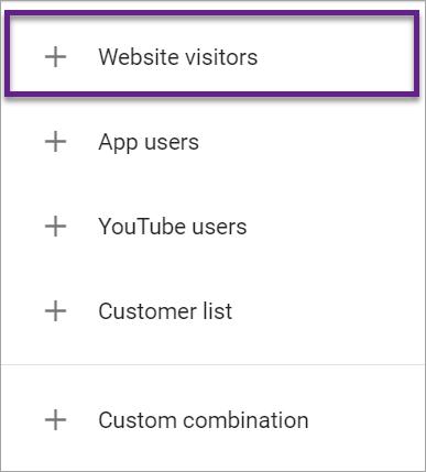 Agentia PPC MAximize - Screenshot categorii lista remarketing