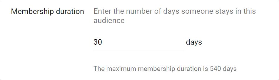 Agentia PPC MAximize - Setarea duratei de membru audiente remarketing