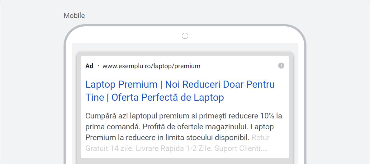 Agentia PPC MAximize - Screenshot Exemplu anunt remarketing simplu