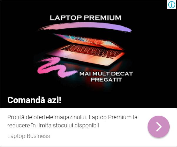 Agentia PPC MAximize - Screenshot imagine Laptop anunt remarketing