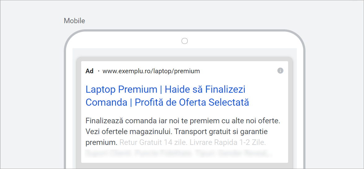 28. Agentia PPC MAximize - Screenshot anunt remarketing pentru CTA