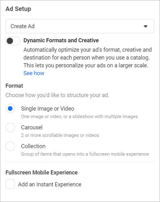 16-Agentie Marketing Online Maximize - articol Facebook Ads-Ads-Manager-ads-formats