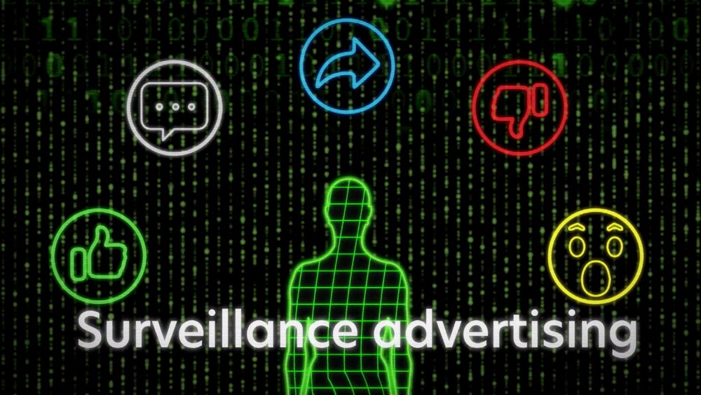 Screenshot from surveillance advertising explainer video