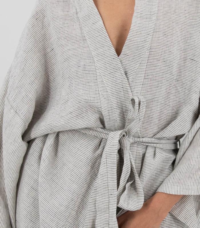Sai Full-Length Linen Robe