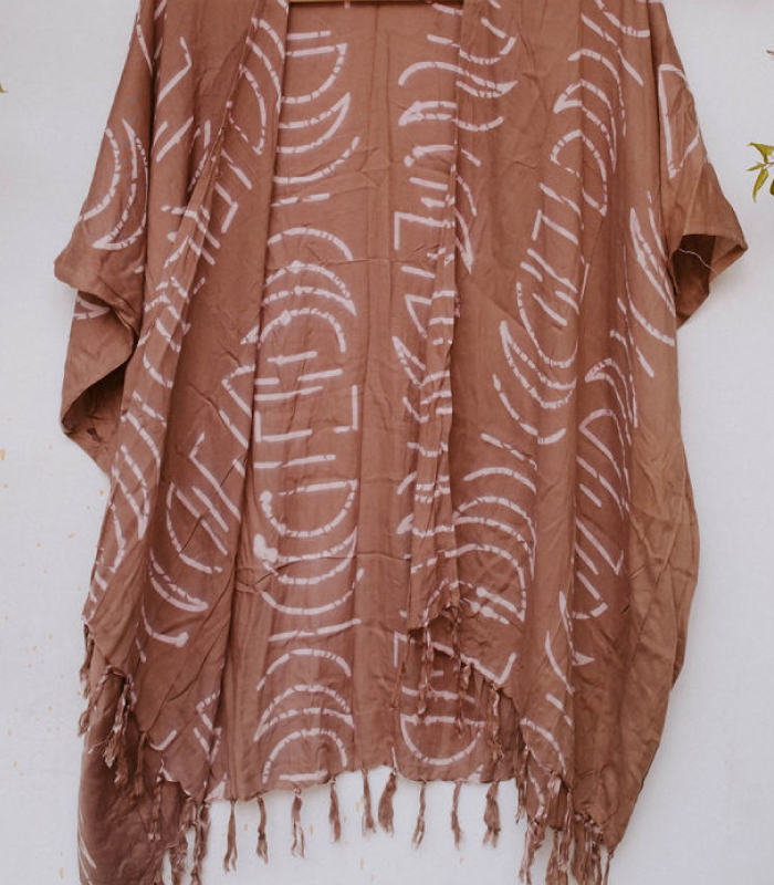 Desert Rose Monstera Kimono