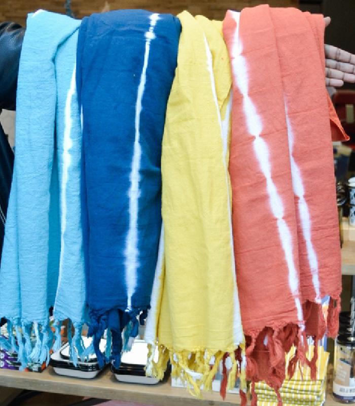 Teal Tie Dye Turkish Towels