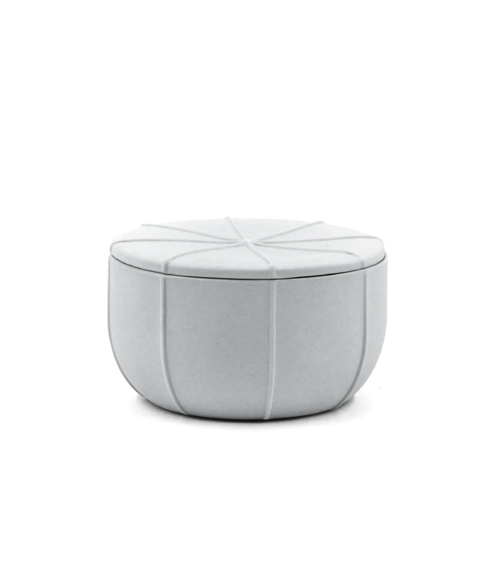 Small Pleat Container - Ash Grey